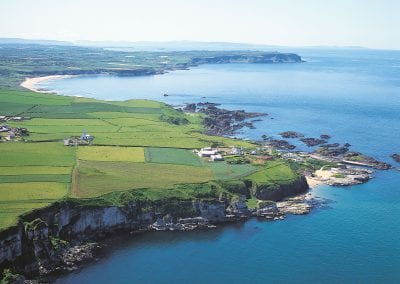 Ballintoy from the air