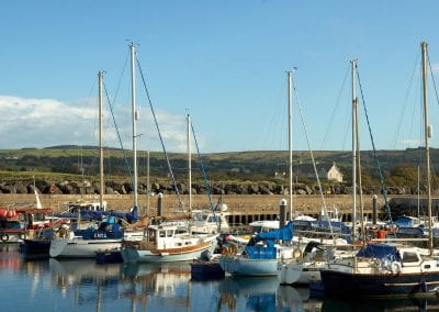 Boats in Ballycastle harbour